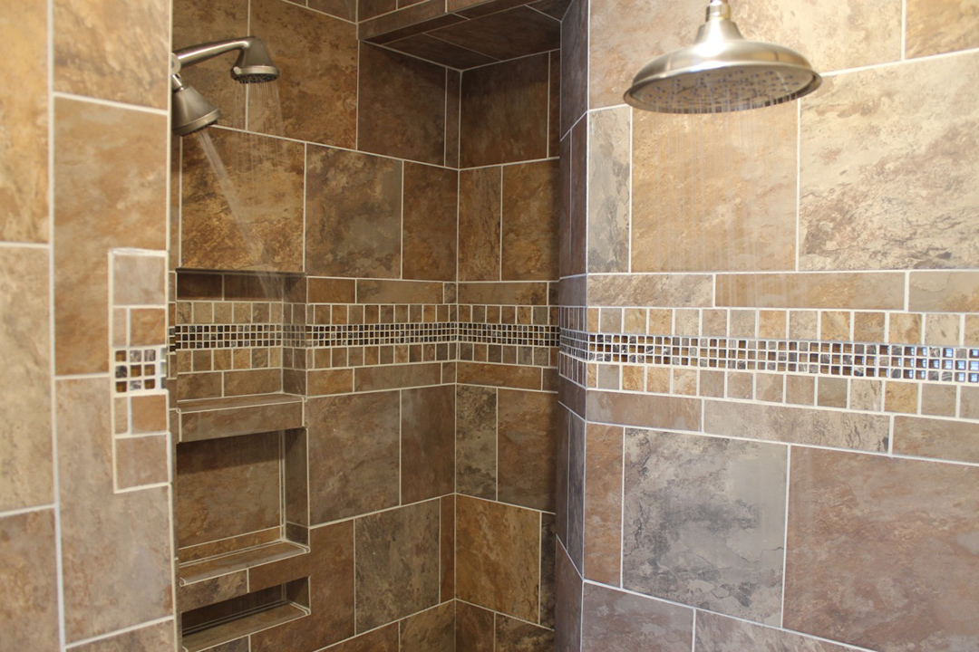 Master Bath Remodel · Dual Shower Head Shower