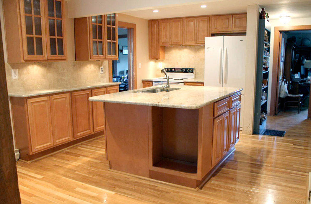 Kitchen Updated With Maple Cabinets