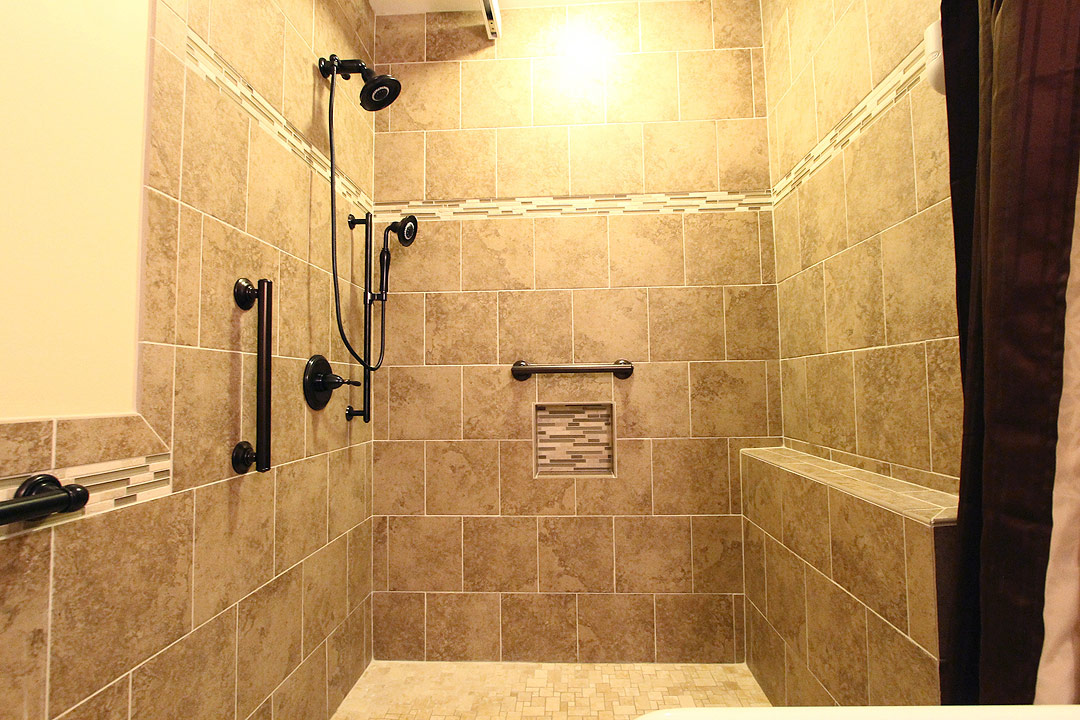 Handicap bathroom remodel, Culpeper VA Ramcom Kitchen & Bath