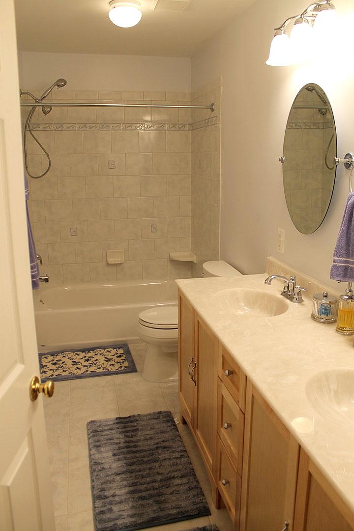 Full bathroom remodel in Gainesville VA by Ram Kitchen