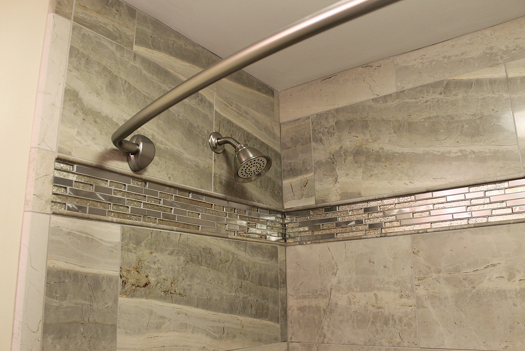 Stainless Shower Tile Border