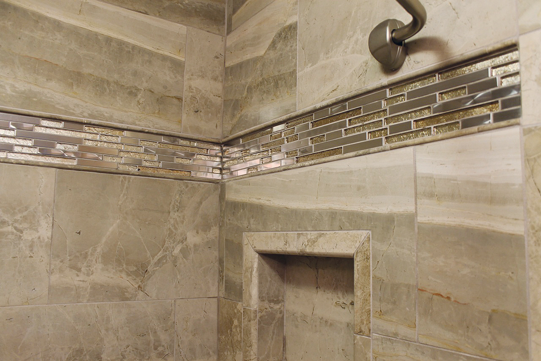 Stainless Shower Decorative Border Steel Accent Tile