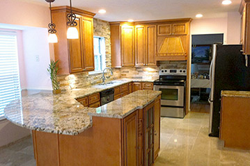 Manassas Virginia kitchen remodel by Ramcom Kitchen and Bath Contractor